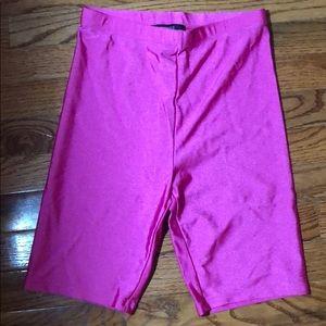 Forever 21 hot pink magenta small biker shorts